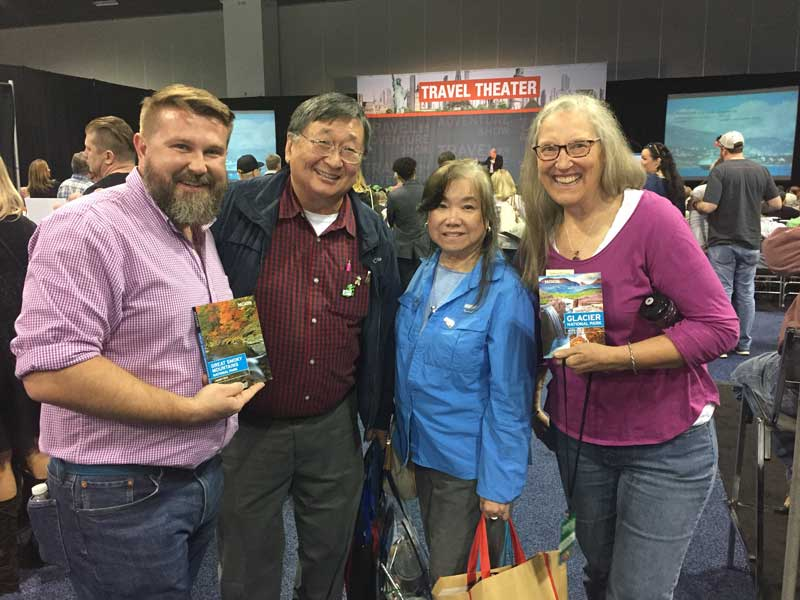 Jason Frye with fans at Travel And Adventure Show 2018