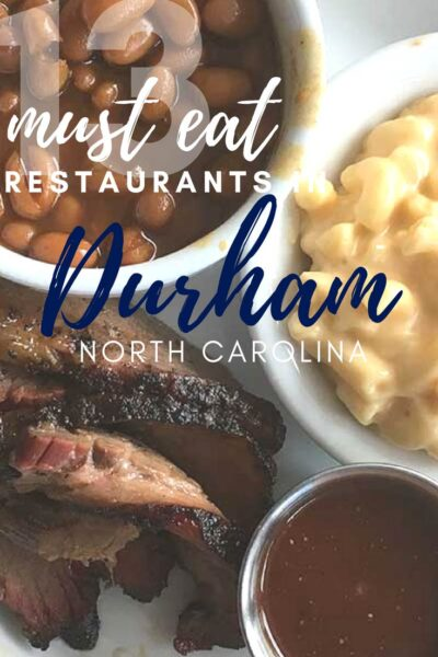 13 Must Eat Durham Restaurants Pinterest Pinnable Image