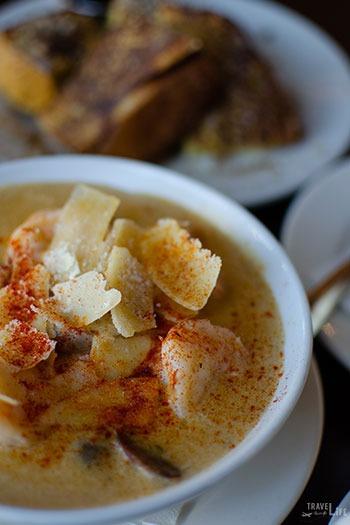 Best Brunch in Durham NC Beyu Caffe Shrimp and Grits Image