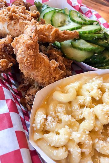 Casual Restaurants in Durham Deeluxe Fried Chicken Tenders and Mac and Cheese