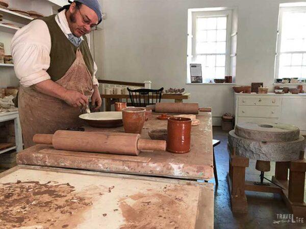 Historic Winston-Salem NC Pottery Images
