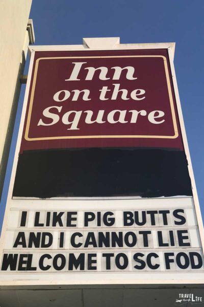 Inn on the Square Greenwood SC Funny Sign