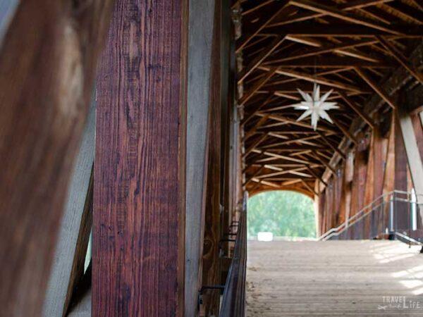 Winston-Salem North Carolina Old Salem Heritage Bridge Images