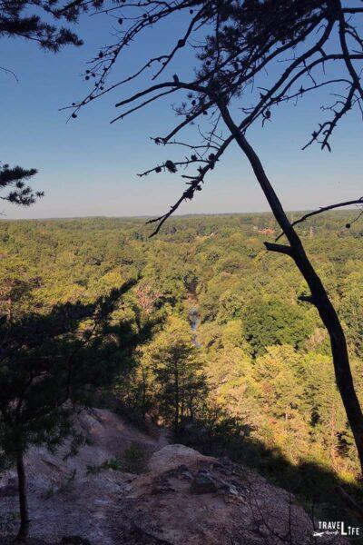 Hiking in North Carolina near Raleigh Occoneechee Mountain Hillsborough