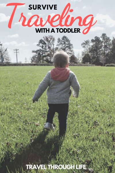 How to Survive Traveling with a Toddler Pinterest Image