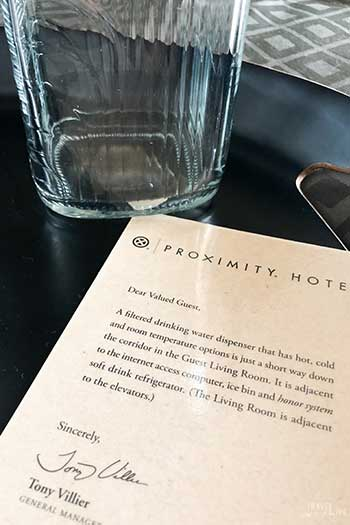 Proximity Hotel Greensboro NC Letter Image