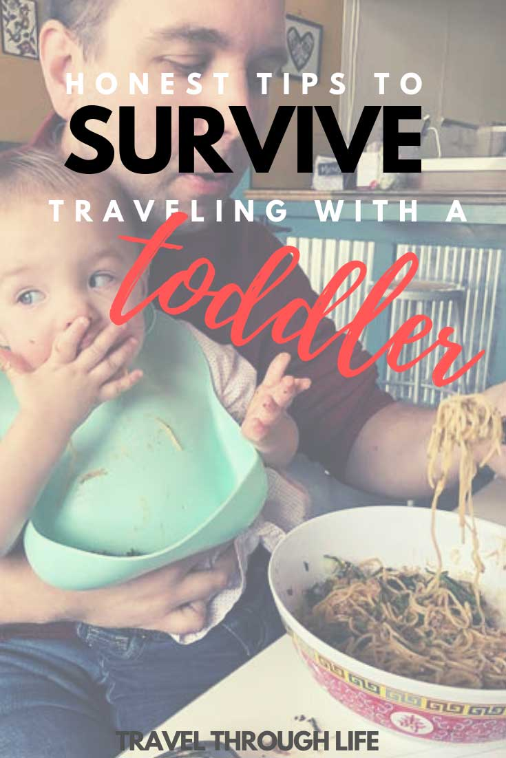 Travel with Kids Guide to Travel with a Toddler Pinnable Image