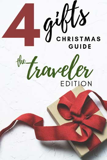 Four Gifts for Christmas Travel Gift Guide Pinnable Image