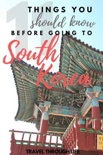 Things you should know before you travel to South Korea Pinterest image