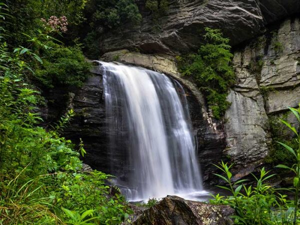 Weekend Things to Do in Brevard NC Looking Glass Falls Image