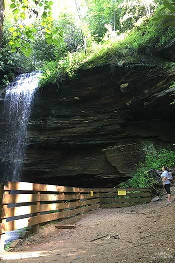Weekend Things to Do in Brevard NC Moore Cove Falls Image