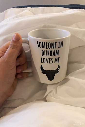 The Durham Hotel North Carolina Travel Guide Bulls of Durham Coffee Mug Image