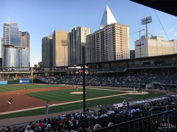 Summer in North Carolina Charlotte Knights Minor League Baseball Image