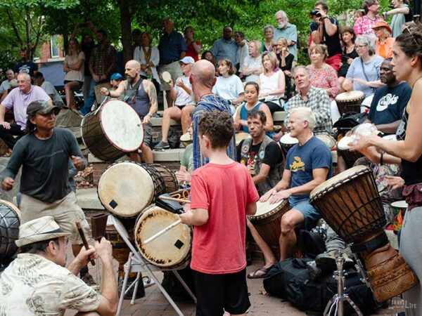 Downtown Asheville NC Drum Circle Image