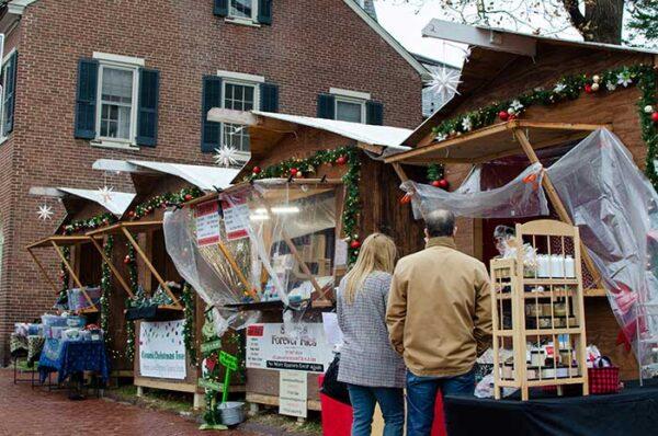 Christmas Huts Bethlehem PA Image
