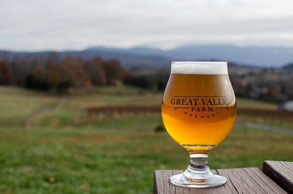 Shenandoah Valley Great Valley Farm Brewery and Mountains Image