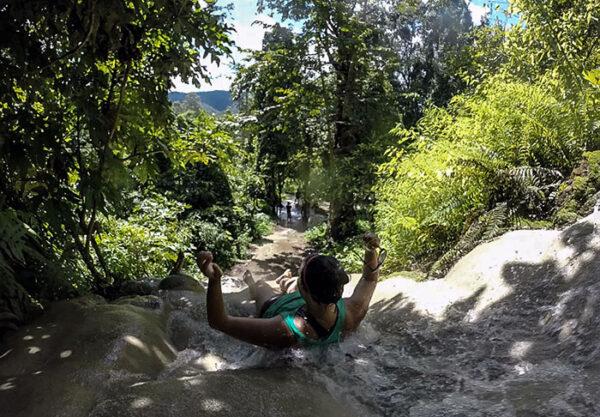 Fun Travel at Bua Thong Sticky Waterfalls Northern Thailand Image