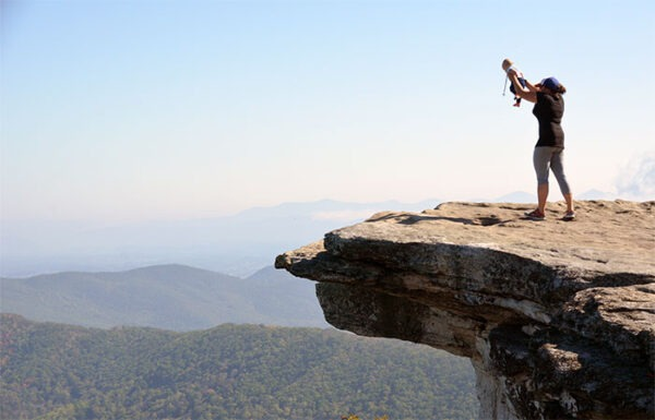 Think Life is Boring Travel McAfee Knob Peak Image