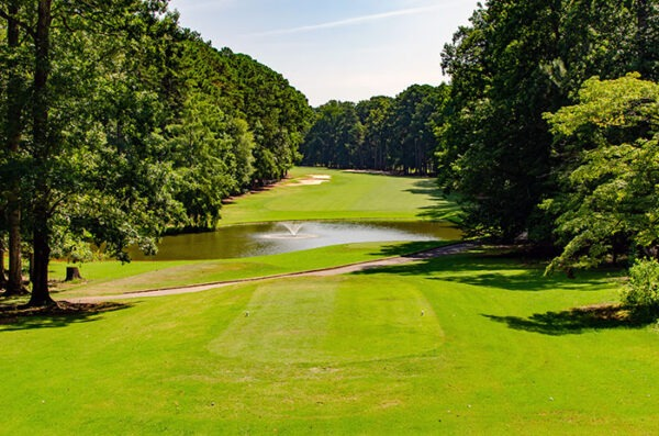 The Hickory Knob State Park Golf Course is one of the best you'll find, with amazing prices, too!